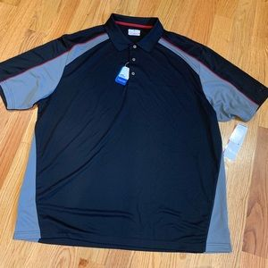 GRANDSLAM  polo shirt. Size 3XL. Black, grey, red